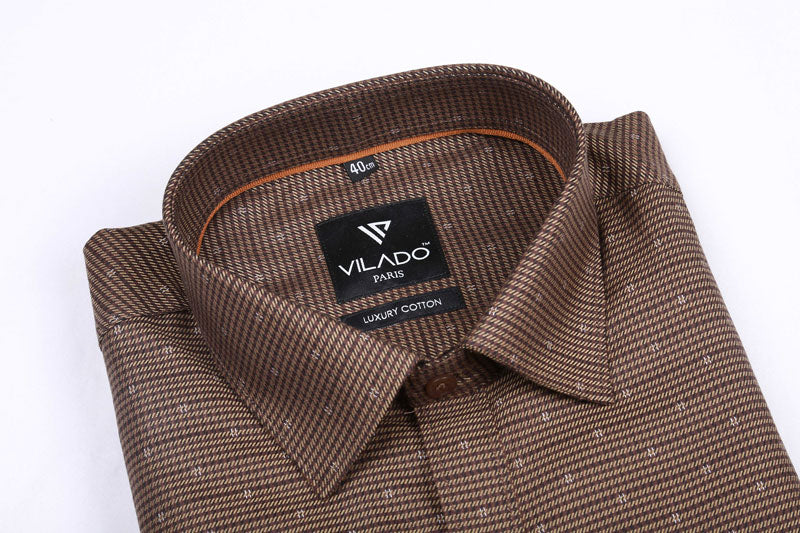 Vilado Paris Men's Premium Cotton Formal Stylish Pattern Shirt