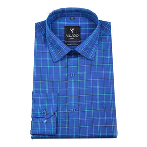 Men's Checked Regular Fit Premium Cotton Shirt By Vilado Paris