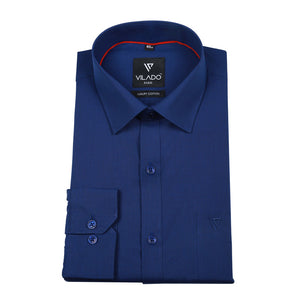 Men's Formal Regular Fit Premium Cotton Shirt By Vilado Paris