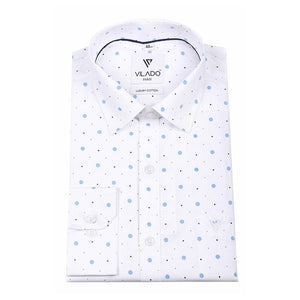 Vilado Paris Men's Cotton Shirt Floral Print Regular Fit Trendsetting Pattern
