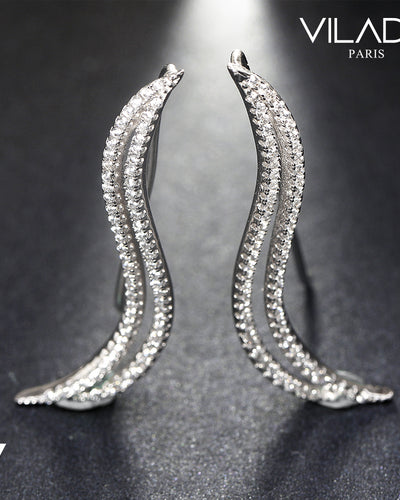 Caterpillar Shape Earrings Woman Fashion Luxury Jewelry
