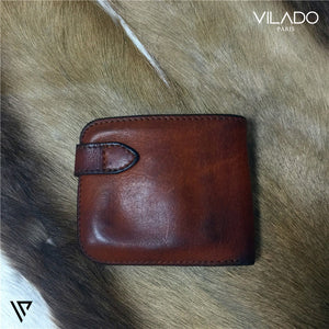 Trendy Grained Leather Billfold Wallet