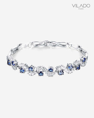 Adorable Silver Diamond Bracelet - Blue