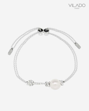 Pearl Chain Diamond Bracelet