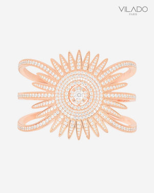 Pink Stylish Sun Diamond Bangle