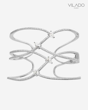 4 Crystals Diamond Elegant Cuff