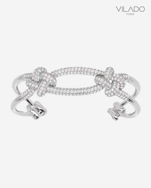 Elegant Cuff Diamond Bangle