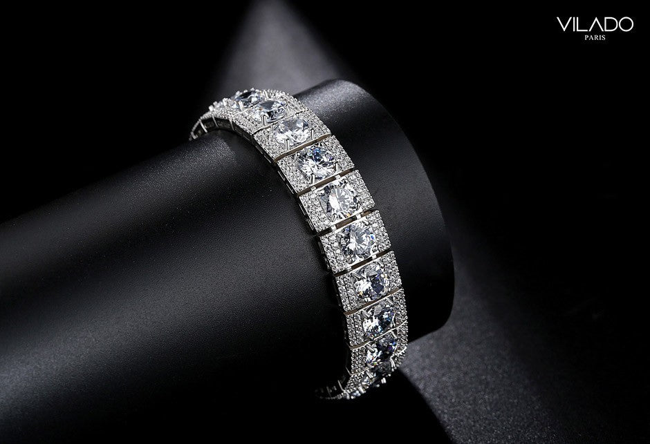 Highend Luxury Fashion Silver Designer Diamond Bracelets VILADO