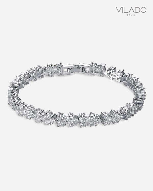 Fanciable Fashion Silver Designer Diamond Bracelets