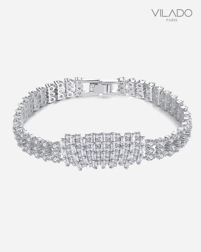 White Cubic Zircon Stone Girl's Diamond Friendship Bracelets