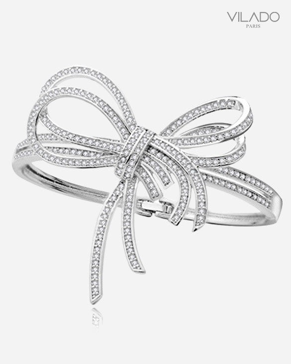 Hot Fashion Luxury Zircon Large Bow knot Diamond Bangles