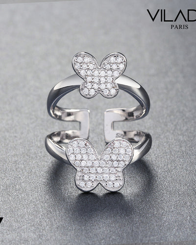Double Butterflies Fashion Wedding Ring