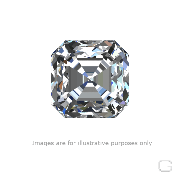ASSCHER DIAMOND - 1.05 CARAT K COLOR VS1 CLARITY GIA