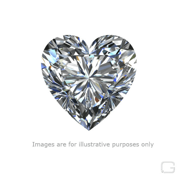 HEART DIAMOND - 1.53 CARAT H COLOR SI1 CLARITY GIA