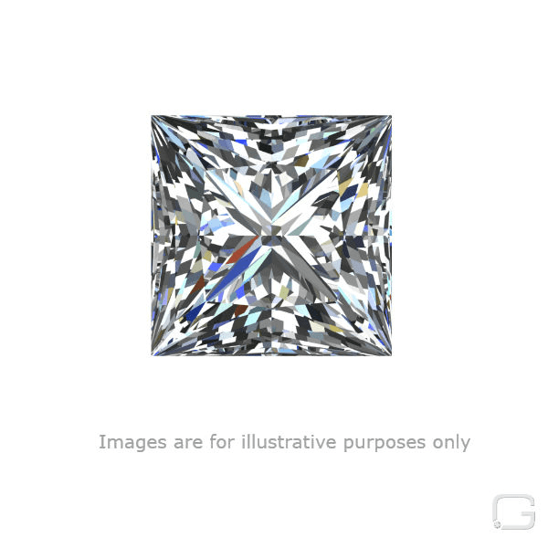 PRINCESS DIAMOND - 0.70 CARAT J COLOR VS2 CLARITY GIA