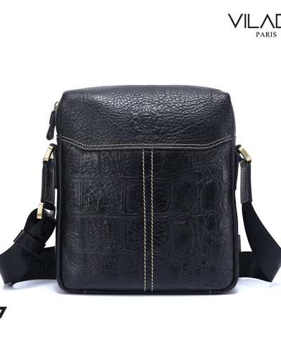 Luxury Leather Messenger Bag For Mens