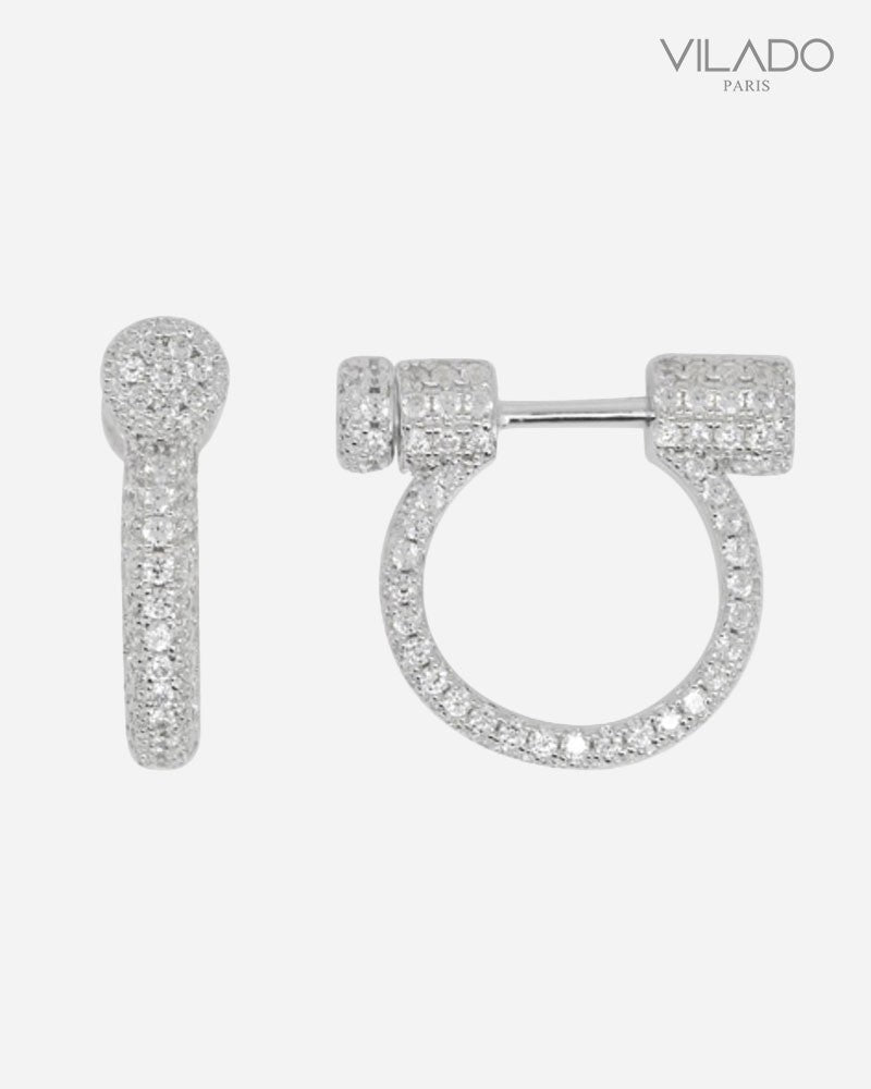 New Fashion Silver Diamond Earring