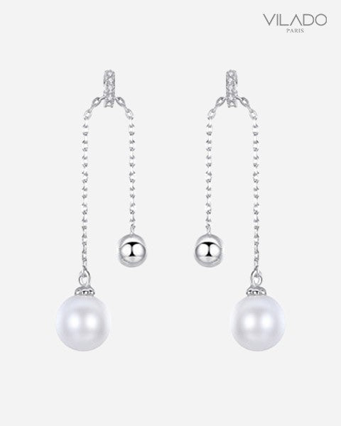 Long Gland Pearl Swing Earrings