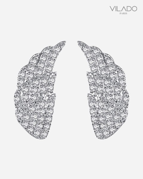 Brilliant Angle Wings Diamond Earrings Elegant Fashion