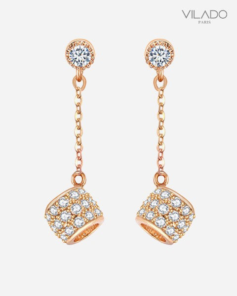 double front women stud drop back water product for online paw fashion cheap sided ear earrings rhinestone