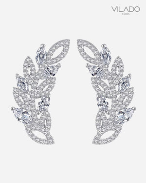 Stylish Leaves Fashion Diamond Earring