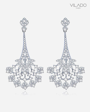 Fashion Princess Zircon Drop Diamond Earrings
