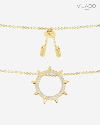 Striking Sun Diamond Necklace