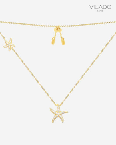 Elegant Starfish Diamond Necklace