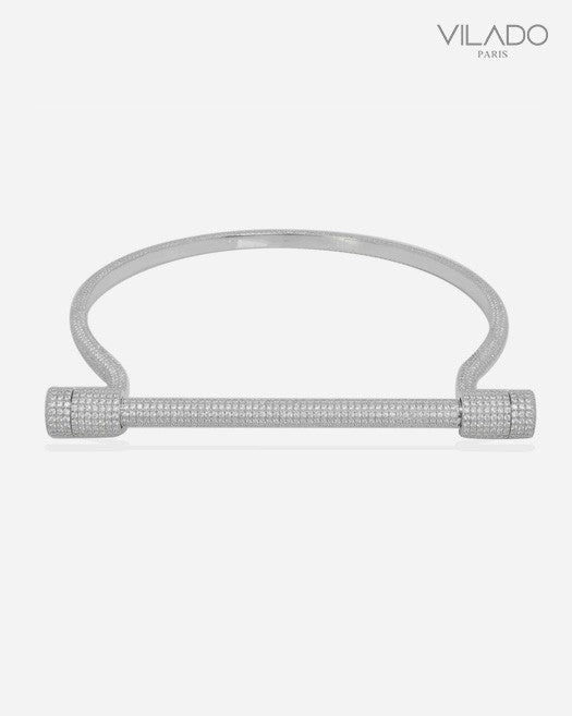 Fashion Screw Diamond Cuff Choker