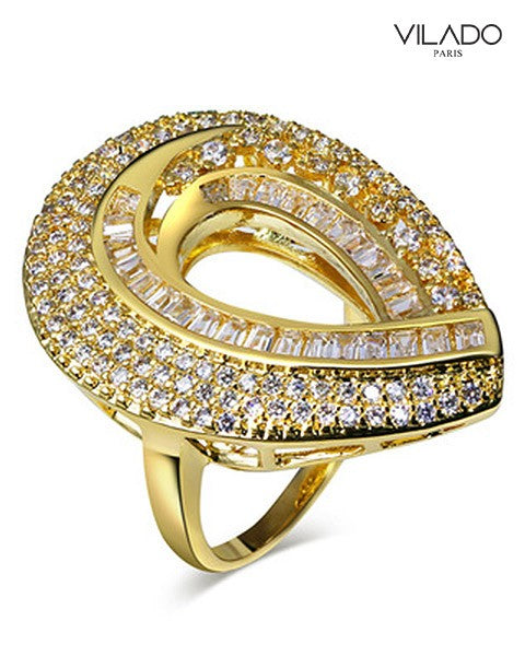 Frisson Big Ring with Diamonds