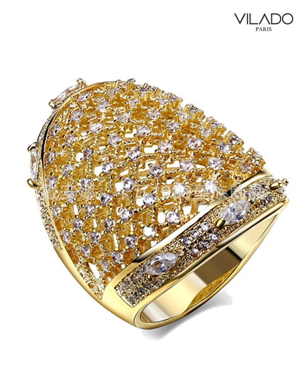 Magnificent Yet Royal Band Shape Diamond Ring