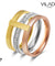 Three Layer Multicolor Ring