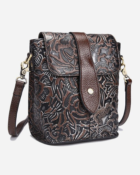 Flower Texture Classic Shoulder Bag