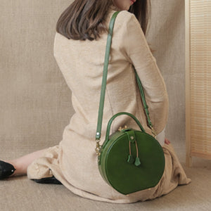 So Elegant! New Handmade Leather Circle Bags