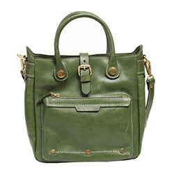 Handmade Green Leather Handbags Purses
