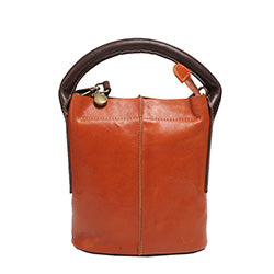 Handmade Brown Leather Bucket Bags Purses