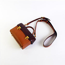 GENUINE LEATHER HANDBAG SATCHEL BAG CLUTCH SHOULDER BOX BAG CROSSBODY BAG PURSE FOR WOMEN