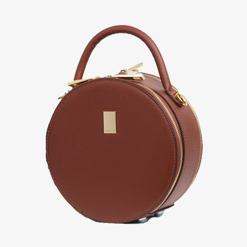 Round Leather Circle Cross Body Bag - Annie Jewel