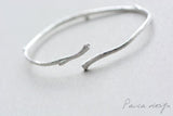 Women Silver Bracelets Minimalist Branch Cuff Bangle Gift Jewelry Accessories