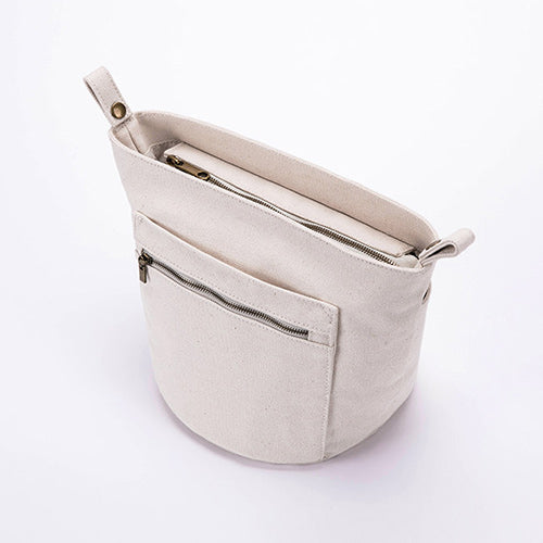 Bucket Canvas Inner Storage Insert Purse - Annie Jewel