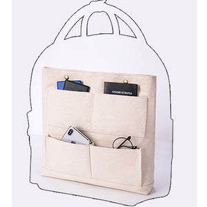 "12"" Tote Backpack Canvas Bag Inner Storage Organizer Pouch Insert Purse - Annie Jewel"