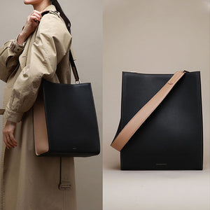 Minimal Structured Bucket Vertical Tote Bag - Annie Jewel