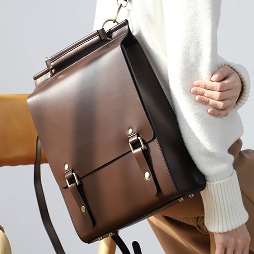 Best Leather Satchel Laptop Backpack Bags - Annie Jewel