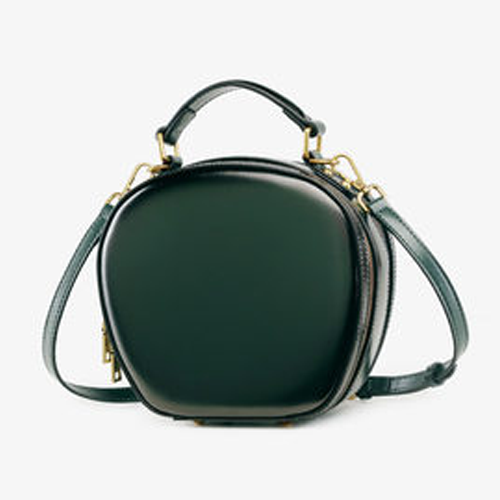 Cute Circle Round Leather Crossbody Bags - Annie Jewel