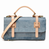 Vegetable Tanned Leather Small Satchel Handle Bag Purse - Annie Jewel