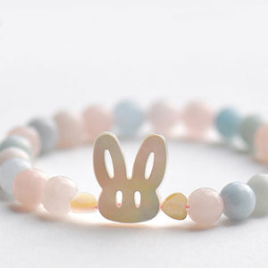 Silver Bracelet Rabbit Beade Bracelets Cute Gift Jewelry Accessories Girls Women - Annie Jewel