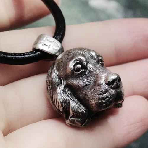 Handmade Vintage Silver Necklace Pendant Dog Labrador Retriever Pet Unique Cute Necklace Pendant Christmas Gift Jewelry Accessories Women