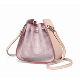 Mini Leather Drawstring Bucket Bag - Annie Jewel