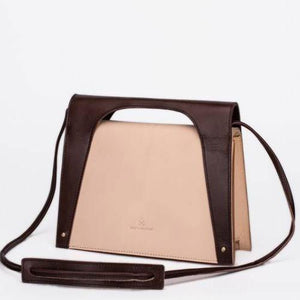 Women Handmade Beige Leather Satchel Bag Handbags Shoulder Crossbody Bags Purse - Annie Jewel