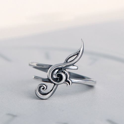 Unique Music Notes Ring Gift Jewelry Girls Women